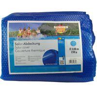 Summer Fun Cubierta solar para piscina de verano redonda PE azul 300cm