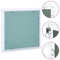 vidaXL Panel de acceso estructura aluminio y placa de yeso 200x200 mm