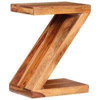 vidaXL Mesa de centro con forma de Z de madera de palisandro maciza