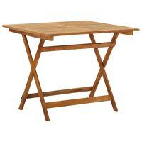 vidaXL Mesa plegable de jardín de madera maciza de acacia 90x90x75 cm