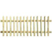 vidaXL Valla de madera de pino impregnada 170x100 cm 5/7cm