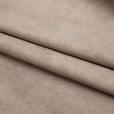 vidaXL Cortinas opacas con ganchos 2 piezas gris topo 140x175 cm