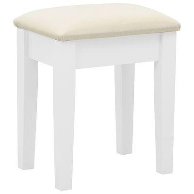 vidaXL Tocador y taburete madera paulownia y MDF blanco 65x36x128 cm
