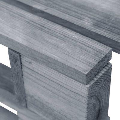 vidaXL Otomana de palets de jardín gris madera de pino impregnada