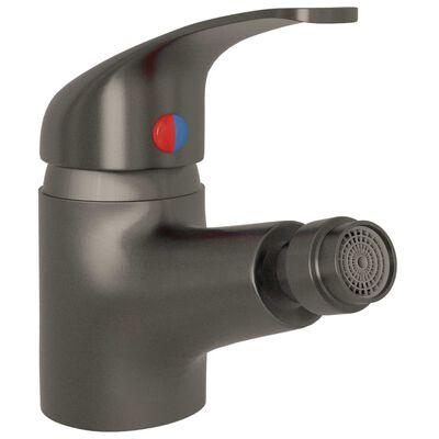 vidaXL Grifo mezclador de bidé gris 13x12 cm
