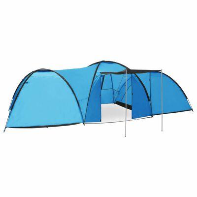 vidaXL Tienda de campaña tipo iglú 8 personas azul 650x240x190 cm