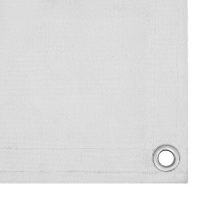 vidaXL Toldo para balcón HDPE blanco 90x300 cm