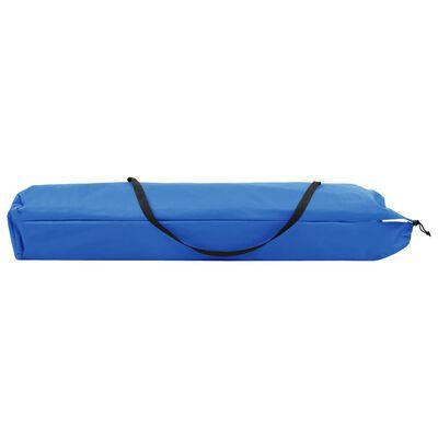 vidaXL Tumbona plegable para 2 personas acero azul