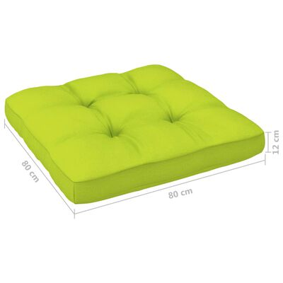vidaXL Cojín para sofá de palets verde brillante 80x80x12 cm