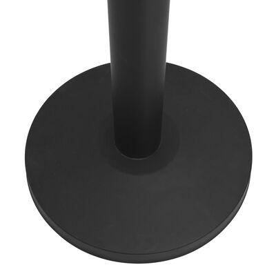 vidaXL Barrera de cinta tipo aeropuerto con soportes acero negro