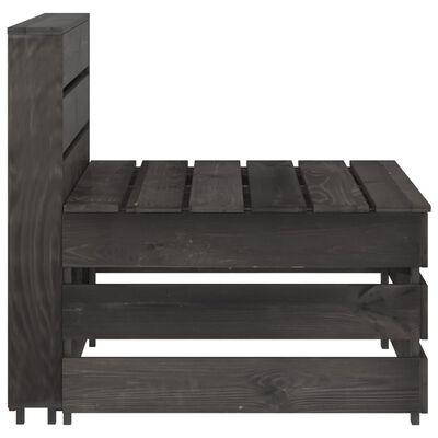 vidaXL Set de muebles de jardín 8 pzas madera de pino impregnada gris