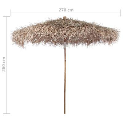 Sombrilla de bambú con tejado de hojas de plátano 270 cm