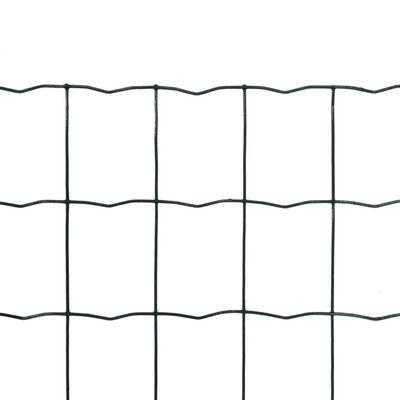vidaXL Set de euro valla acero verde 10x1 m