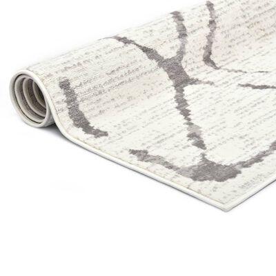 vidaXL Alfombra de PP color crema y gris 120x170 cm
