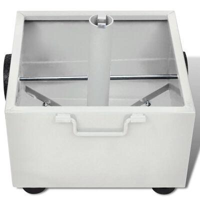 vidaXL Base de sombrilla de exterior con macetero blanco