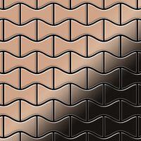 ALLOY Kismet-CM Mosaico de metal sólido Cobre cobre
