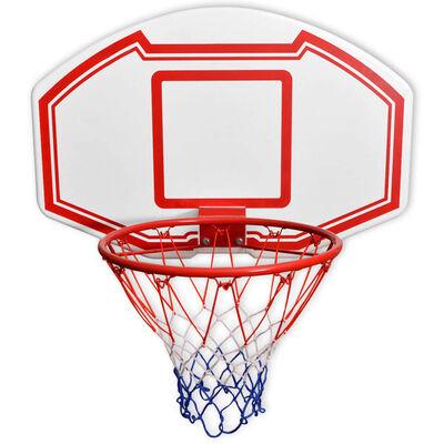 vidaXL Set de canasta de baloncesto de pared tres piezas 90x60 cm