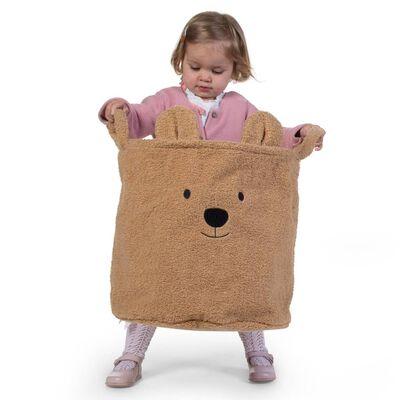 CHILDHOME Cesto de almacenaje Teddy beige 40x40x40 cm