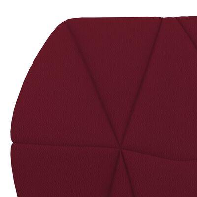 vidaXL Sillas de comedor 4 unidades cuero sintético color vino tinto