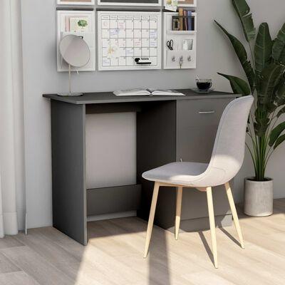 vidaXL Escritorio de aglomerado gris 100x50x76 cm