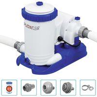 Bestway Bomba de filtro de piscina Flowclear Skimatic 9463 L/h