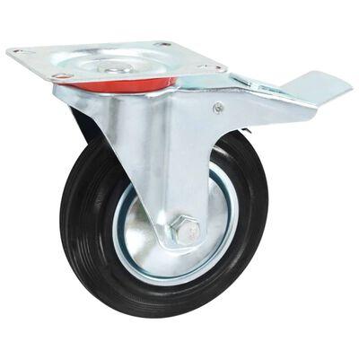 vidaXL Ruedas giratorias 8 unidades 160 mm