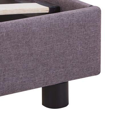 vidaXL Estructura de cama de tela gris topo 160x200 cm