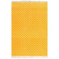 vidaXL Alfombra de algodón Kilim 120x180 cm estampado amarillo