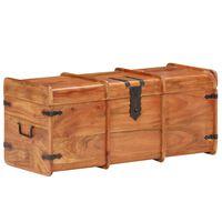 vidaXL Cofre de almacenamiento madera maciza de acacia 90x40x40 cm
