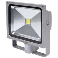YATO Lámpara LED con detector de movimiento gris 30 W