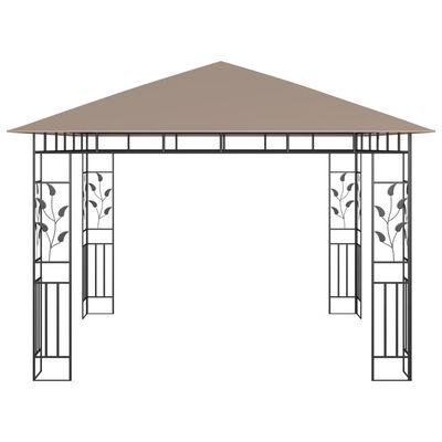 vidaXL Cenador con mosquitera gris taupe 3x3x2,73 m 180 g/m²