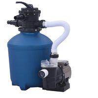 vidaXL Bomba de filtro de arena con temporizador 530 W 10 980 L/h