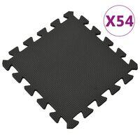 vidaXL Esterilla de suelo 54 unidades goma EVA negro 4,86㎡