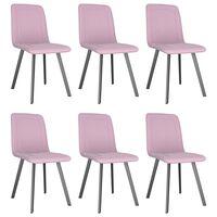 vidaXL Sillas de comedor 6 unidades terciopelo rosa