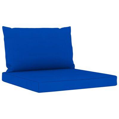 vidaXL Juego de muebles de jardín 6 piezas con cojines azules