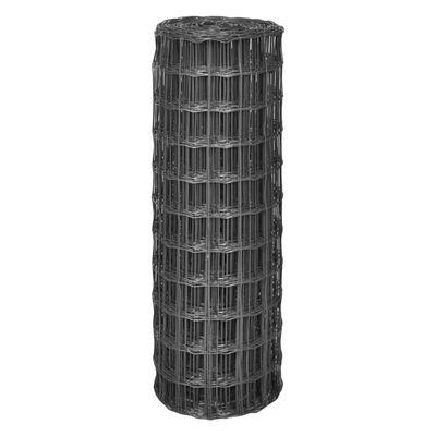 vidaXL Euro Valla de acero gris 25x1,2 m