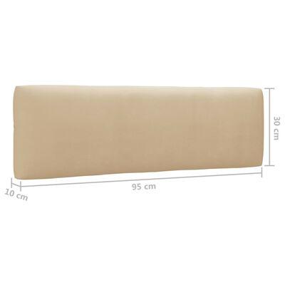 vidaXL Muebles de palets 6 pzas y cojines madera pino impregnada gris