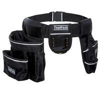 Toolpack Cinturón portaherramientas de 2 bolsillos Specter negro