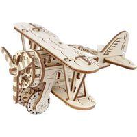 WOODEN CITY Kit de maqueta de biplano de madera