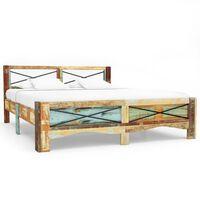 vidaXL Estructura de cama de madera maciza reciclada 180x200 cm
