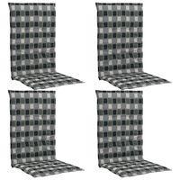 vidaXL Cojines de sillas jardín 4 uds estampado multicolor 120x50x3 cm