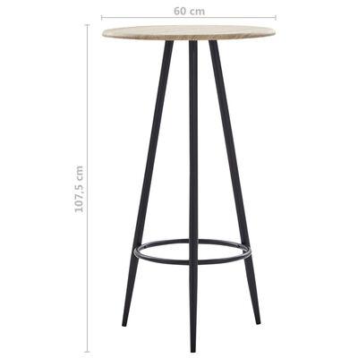 vidaXL Juego de mesa alta y taburetes 5 piezas tela color vino tinto