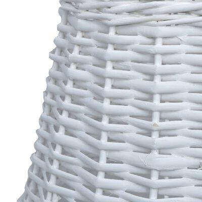 vidaXL Pantalla de lámpara de mimbre blanco 30x20 cm