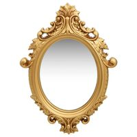 vidaXL Espejo de pared estilo castillo dorado 56x76 cm