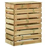 vidaXL Compostador con listones madera pino impregnada 80x50x100 cm