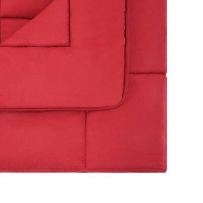 vidaXL Set de funda de edredón 3 piezas tela burdeos 200x220/60x70 cm