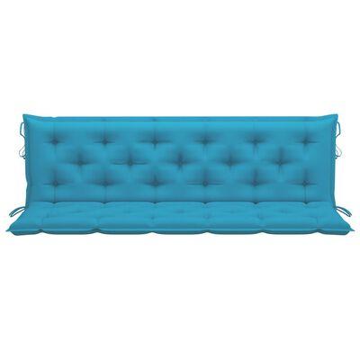 vidaXL Cojín para columpio balancín de tela azul claro 180 cm
