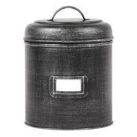 LABEL51 Bote de almacenaje XL negro envejecido 20x20x25 cm