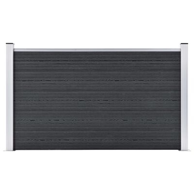 vidaXL Valla de jardín de WPC gris 872x106 cm