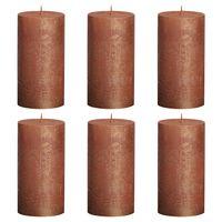 Bolsius Velas rústicas 6 unidades color cobre 130x68 mm